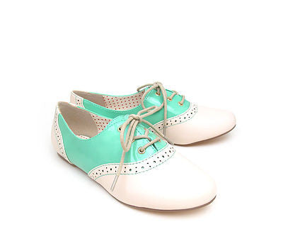 EMMIE Seafoam Saddle Oxford Shoes