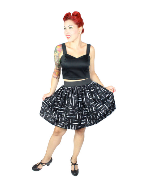 """Lindy"" Antique Scissors Skirt"