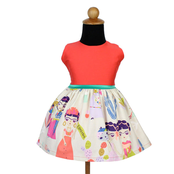 Girl's Coral Frida Esperanza Dress