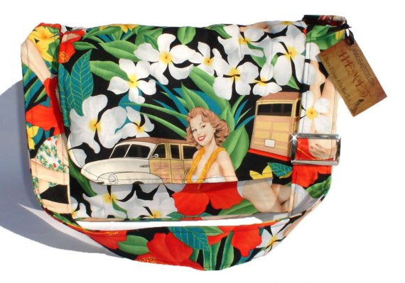 """What a Square""  Hawaiian  Messenger Bag"