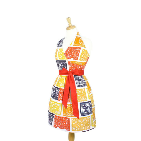 Papel Picado Halter Dress