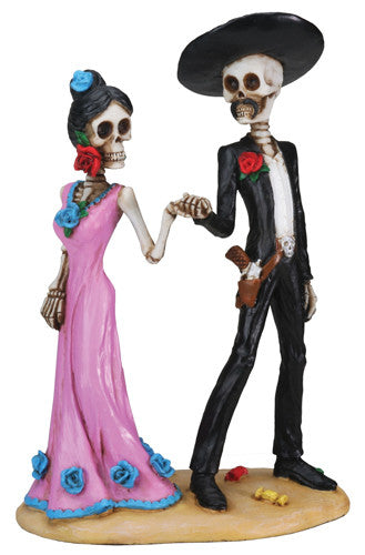 Day of the Dead Holding Hands Skulls