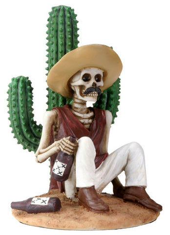 Day of the Dead Boracho with Cactus