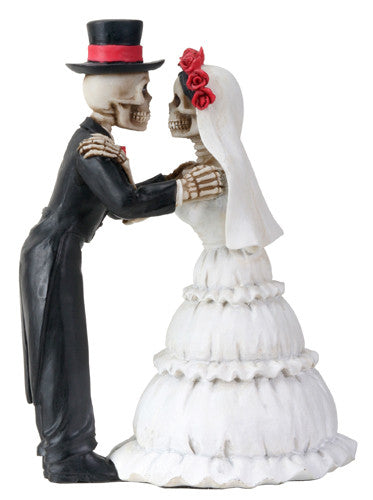 Day of the Dead Wedding Couple the Kiss