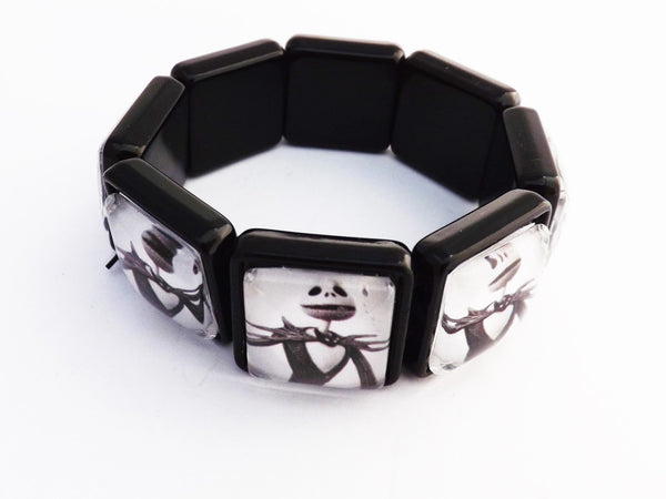 Jack Skellington Nightmare Before Christmas Glass Bracelet