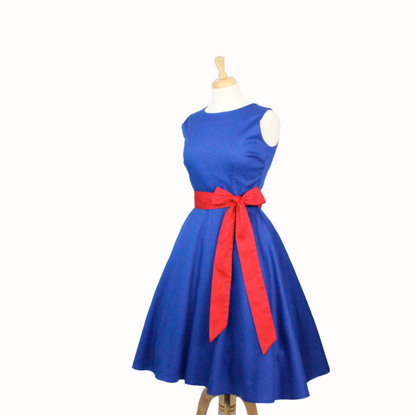 Classic Circle Dress Cobalt Blue