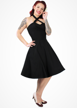 Load image into Gallery viewer, model wearing criss cross circle dress front