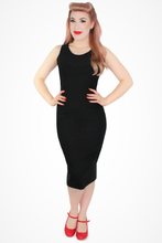 Load image into Gallery viewer, Audrey Black Wiggle Dress, front