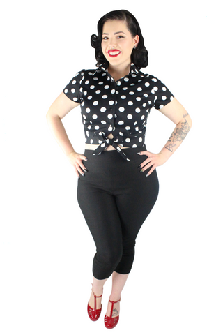 1950s Polka Dot Picnic Top XS-3XL