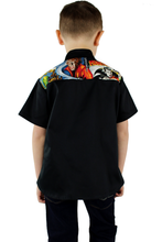 Load image into Gallery viewer, Boy wearing top with jeans, Pictured from the back