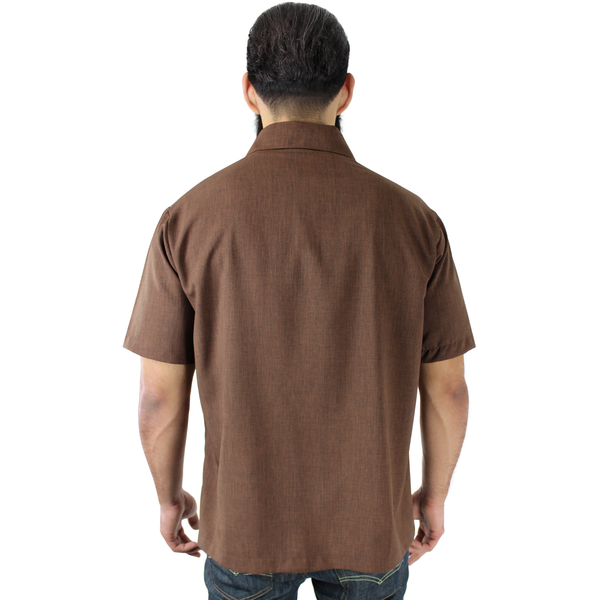 Men's Two Tone Derby Brown Cigar Top S-4XL