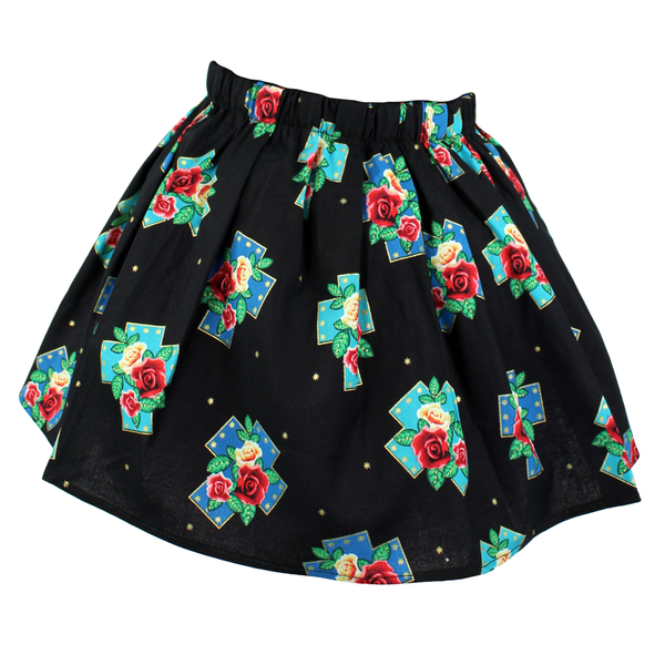 Girl's Roses and Crosses Skirt
