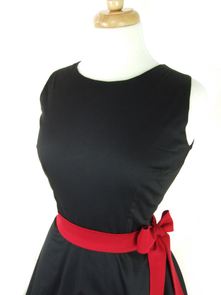Valentine's Day- Classic Black Full Circle Dress