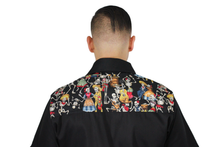 Load image into Gallery viewer, Men's Dancing Skeletons Western Top, back close up