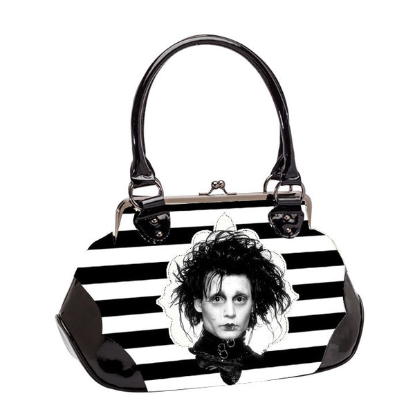 Edward Scissorhands Striped Kisslock Handbag