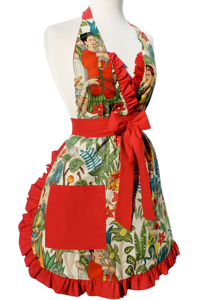 """Just Peachy"" Frida in the Jungle Tan Apron"