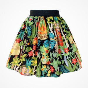 """Lindy"" Frida in The Jungle Black Skirt, front"
