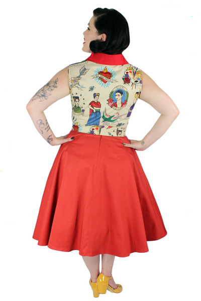 1950s Frida Kahlo Picnic Top XS-3XL