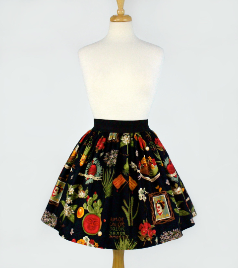 """Lindy"" Black Viva Frida Skirt"
