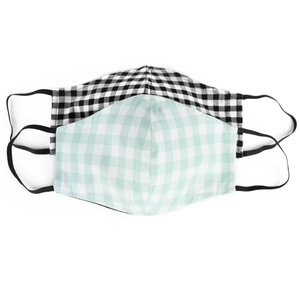 gingham face masks front