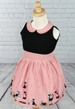 Load image into Gallery viewer, Girl's Pink Retro Cat Dress