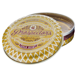 Prospectors Gold Rush Pomade, top, open lid