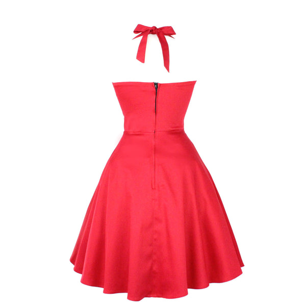 Classic Red Full Circle Dress