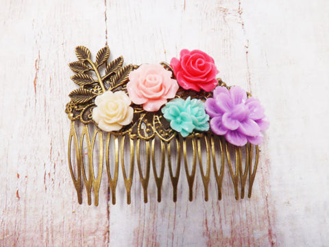 Frida Pastel Flower Hair Clip
