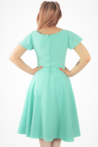 Mint Green Butterfly Dress, back