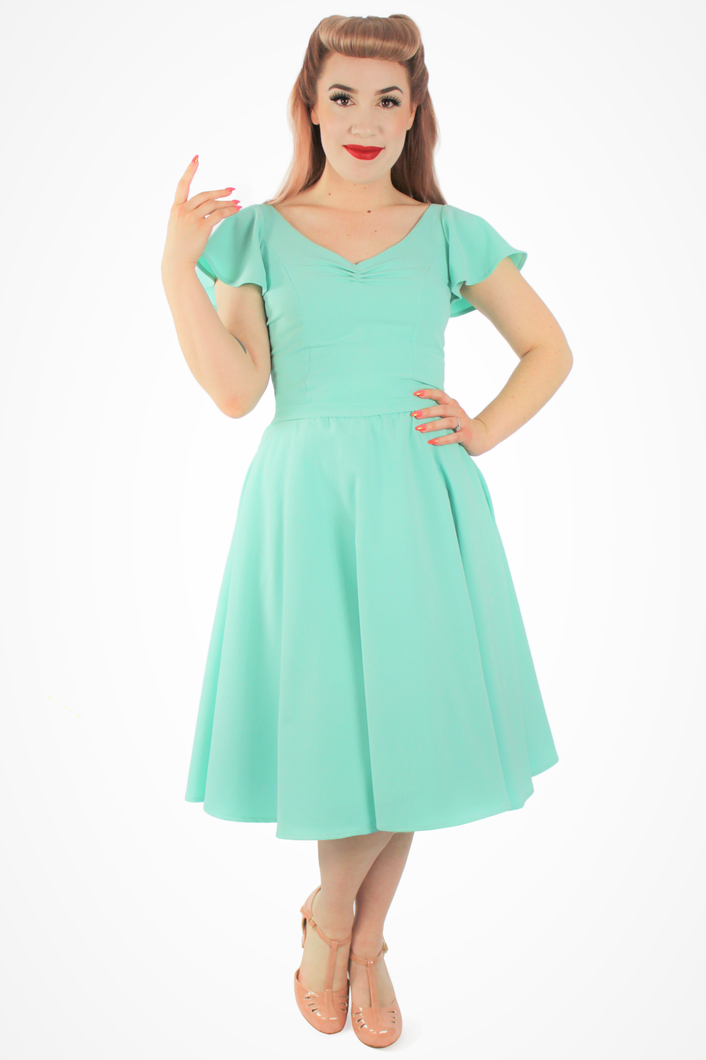 Mint Green Butterfly Dress, front