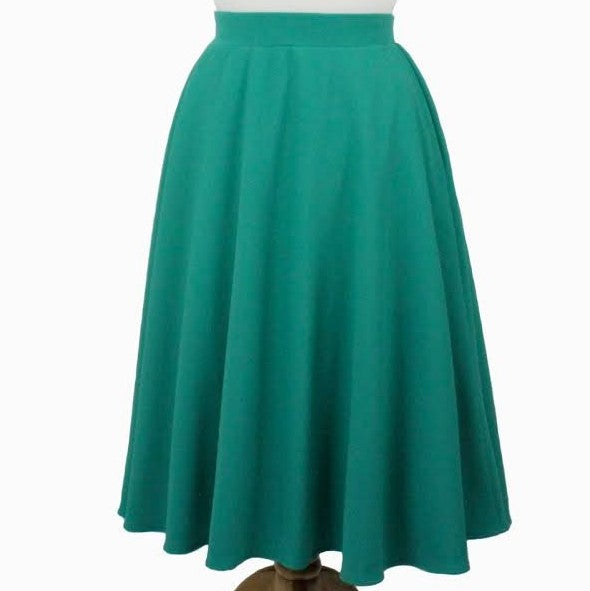 Flowy Mint Circle Skirt With Pockets