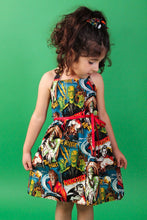 Load image into Gallery viewer, Monsters Girl's Dress, side