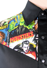 Load image into Gallery viewer, Men's Hollywood Monsters Western Top, close