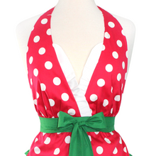 Load image into Gallery viewer, Red Polkadot Christmas Apron