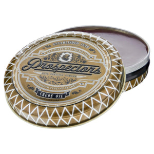Prospectors Crude Oil Pomade, top, open lid