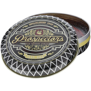 Prospectors Iron Ore Pomade, top, open lid