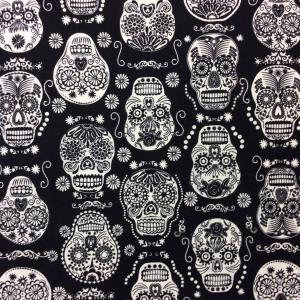 Boy's Black and White Sugar Skulls Western Top