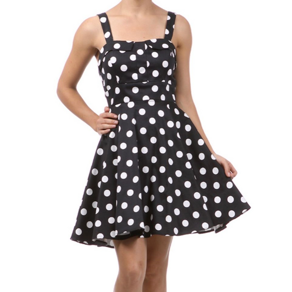 Black Polka Dot Ixia Dress