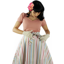 Load image into Gallery viewer, striped circle skirt