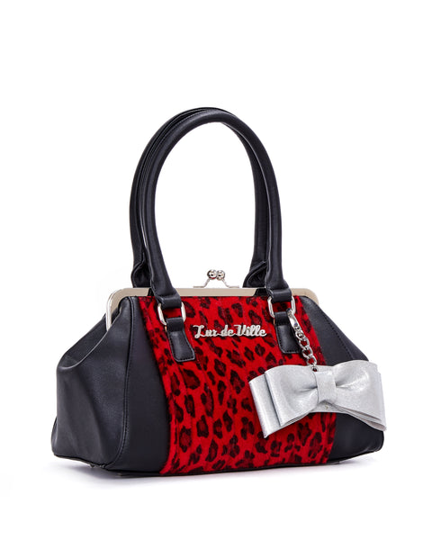 Sweet Pea Kiss Lock Red Leopard and Black Matte - Limited Edition