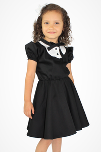 Girl's Tuxedo Dress, side