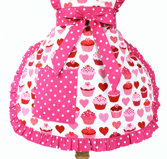 """Whisked Away"" Valentine Cupcake Apron"