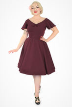 Load image into Gallery viewer, Wine Butterfly Dress, full front