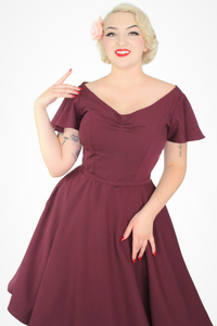 Wine Butterfly Dress, close
