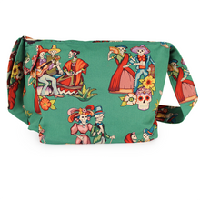 Load image into Gallery viewer, baile de los enamorados messenger bag back