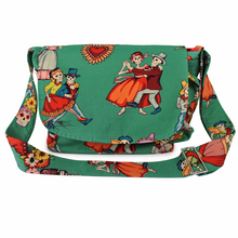 Load image into Gallery viewer, baile de los enamorados messenger bag front