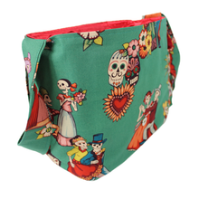 Load image into Gallery viewer, baile de los enamorados messenger bag side pocket