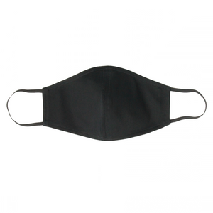 LARGE Black Face Mask With Filter Pocket