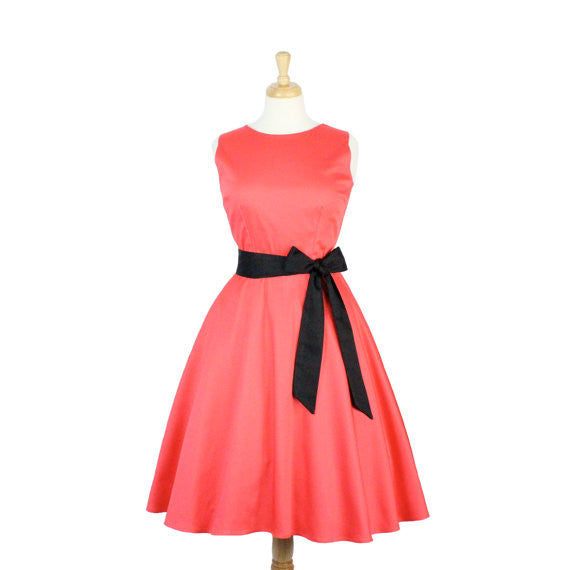 Coral Classic Full Circle Dress With Belt