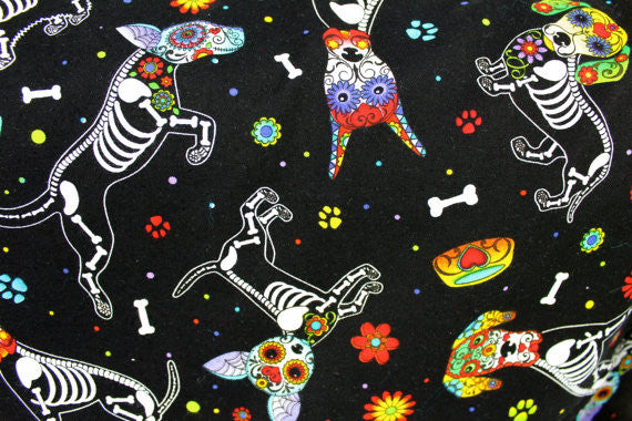 """Lindy"" Day of the Dead Dog Skirt"